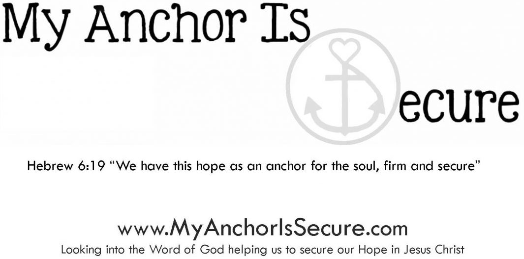 My Anchor Is Secure